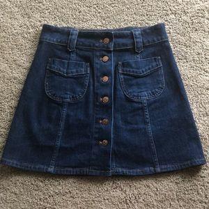 Madewell button a-line skirt